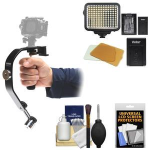 Sunpak 2000AVG Video Stabilizer Grip for GoPro Action and PandS Cameras with LED Video Light Kit and Accessory Kit