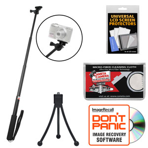 sunpak 3000avw 28 extendable selfie wand for gopro action p s cameras with mini tripod. Black Bedroom Furniture Sets. Home Design Ideas