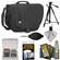 Tamrac 3445 Rally 5 Camera/Netbook/iPad Bag (Black) with Deluxe Photo/Video Tripod + Nikon Cleaning Kit