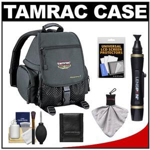 Tamrac 5242 Adventure 2 Photo Digital SLR Camera Backpack Case (Black) with Lenspen + Cleaning Accessory Kit