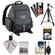 Tamrac 5242 Adventure 2 Photo Digital SLR Camera Backpack Case (Black) with Deluxe Photo/Video Tripod + Cleaning Kit