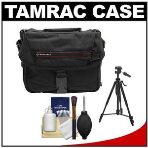Tamrac 603 Zoom Traveler 3 Camera Bag (Black) with Deluxe Photo/Video Tripod + Accessory Kit