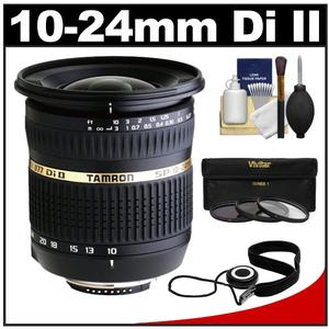 Tamron 10-24mm f/3.5-4.5 Di II SP LD ASP (IF) Lens (for Sony Cameras) with 3 UV/ND8/CPL Filters + Accessory Kit