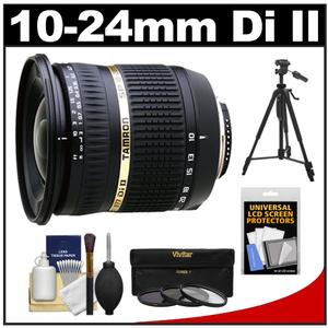 Tamron 10-24mm f/3.5-4.5 Di II SP LD ASP (IF) Lens (for Sony Cameras) with 3 UV/ND8/CPL Filters + Tripod + Accessory Kit