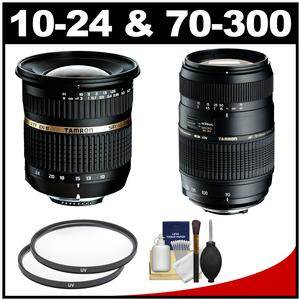 Tamron 10-24mm f/3.5-4.5 Di II SP LD ASP (IF) Lens (for Sony Cameras) & Tamron 70-300mm f/4-5.6 Di LD Macro Zoom Lens with Filters + Kit