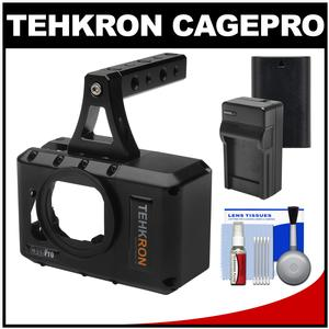 Tehkron CagePro Powered Cage for GoPro HERO3-HERO3+-HERO4 Camera with Battery and Charger + Kit