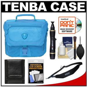 Tenba Vector 3 Digital SLR Camera Bag (Oxygen Blue) with Sling Strap + Cleaning & Accessory Kit