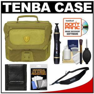 Tenba Vector 3 Digital SLR Camera Bag (Krypton Green) with Sling Strap + Cleaning & Accessory Kit