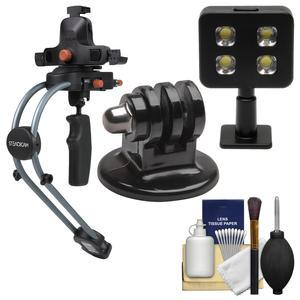 Steadicam Smoothee Video Stabilizer with Universal Smartphone Adapter with Tripod Adapter and LED Light and Kit