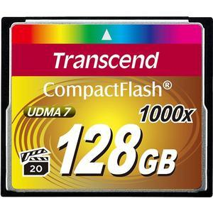 Transcend 128GB CompactFlash-CF-1000x UDMA 7 160R-120W Memory Card