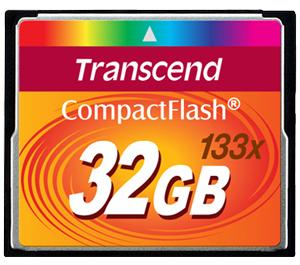 Transcend 32GB 133x CompactFlash - CF - Card