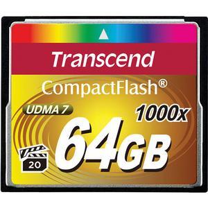 Transcend 64GB CompactFlash - CF - 1000x UDMA 7 160R-120W Memory Card