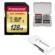 Transcend 128GB SecureDigital SDXC UHS-I U3 Memory Card with 3.0 Card Reader + Card Case