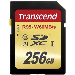 Transcend 256GB SecureDigital SDXC UHS-I U3 Class 10 Memory Card
