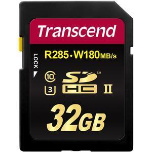 Transcend 32GB SecureDigital-SDHC-UHS-II U3 Class 10 Memory Card