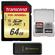 Transcend 64GB SecureDigital SDXC UHS-I U3 Class 10 Memory Card with 3.0 Card Reader + Card Case