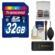 Transcend 32GB SecureDigital (SDHC) 300x UHS-I Class 10 Memory Card with 3.0 Card Reader + Card Case + Cleaning Kit