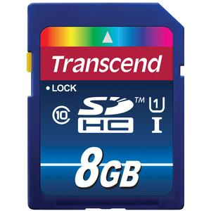 Transcend 8GB SecureDigital-SDHC-300x UHS-I Class 10 Memory Card