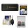 Transcend USB 3.0 SD & microSD Card Reader (SDHC/SDXC/UHS-I) (Black) with Memory Card Case + Cleaning Kit