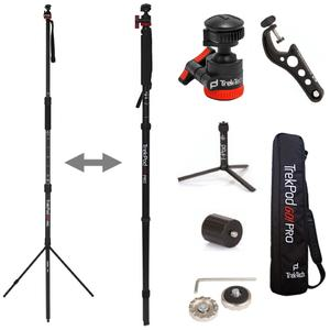Trek-Tech TrekPod GO! Pro Tripod/Monopod Hiking Stick Essentials Kit & Case with T-Pod  OptiMount  Leg Adapter  MagMount Pro  MagAdapter STAR & Allen Wrench