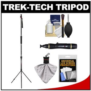 Trek-Tech TrekPod XL Carbon Fiber Tripod/Monopod Hiking Stick Essentials Kit & Case with Cleaning & Accessory Kit