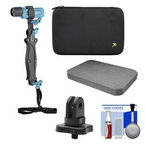 UKPro POV Freestyler Video Light Kit with .25 inch Thread Adapter and Custom Foam Case and Kit