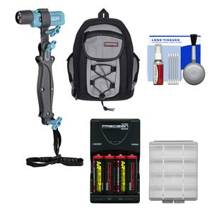 UKPro POV Freestyler Video Light Kit with Backpack Case and AA Batteries and Charger and Kit