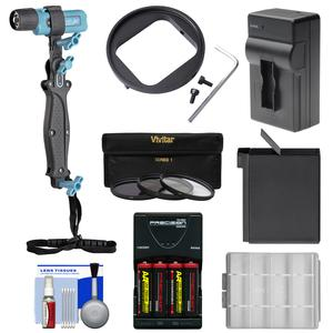UKPro POV Freestyler Video Light Kit with Batteries and Chargers and Filter Adapter and 3 UV-CPL-ND8 Filters and Kit