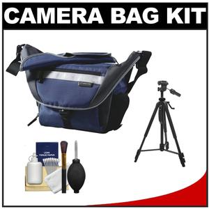 Get Vanguard Sydney 22 Messenger Digital SLR Camera Bag/Case (Blue) with Deluxe Photo/Video Tripod + Accessory Kit Before Special Offer Ends