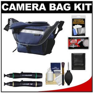 Vanguard Sydney 22 Messenger Digital SLR Camera Bag/Case (Blue) with Cleaning Accessory Kit