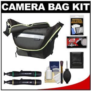 Vanguard Sydney 22 Messenger Digital SLR Camera Bag/Case (Olive) with Cleaning Accessory Kit