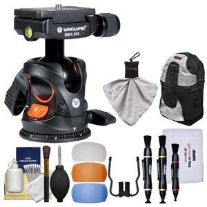 Vanguard BBH-200 Ball Head with Quick Release with Backpack + Flash Diffusers + Kit