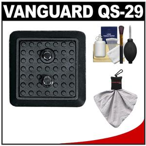 Vanguard Quick Shoe Release Plate QS-29 with Cleaning Kit for VT-158 AK-2 AK-3 AK-4 MK-2 MK-3 MK-4 DIGI 6 MARS 1 Tripods
