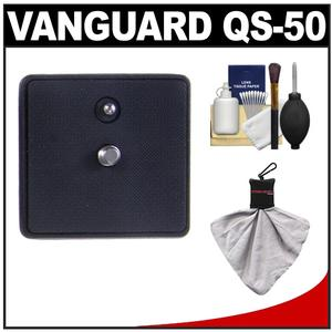 Vanguard Quick Shoe Release Plate QS-50 with Cleaning Accessory Kit for Alta+ Series Tripods and PH-12 PH-22 Panheads