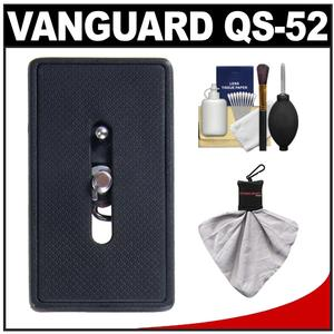 Vanguard Quick Shoe Release Plate QS-52 with Cleaning Kit for Alta and 254CO 255CO 233AO 264AO 265AO Tripods