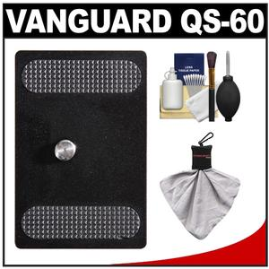 Vanguard Quick Shoe Release Plate QS-60 with Cleaning Accessory Kit for ABH-120 ABH-230 ABH-340 Ball Heads