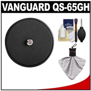 Vanguard Quick Shoe Release Plate QS-65GH with Cleaning Accessory Kit for GH-100 and GH-200 Pistol Grip Ball Heads