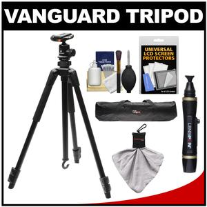 Vanguard 58inch Espod 203AB Aluminum Alloy Tripod with SBH-30 Ball Head with Tripod Case + Lenspen + Accessory Kit