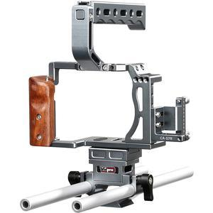 Vidpro CA-S7R Aluminum Camera Video Cage Rig for Sony Alpha A7 Series Cameras fits A7 A7 II A7S A7S II A7R and A7R II