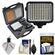 Vidpro 10-Piece Pro Photo/Video LED Light Kit with Battery, Charger, Diffusers & Case with Cleaning & Accessory Kit
