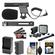 Vidpro Mini Condenser Microphone for DSLRs, Camcorders & Video Cameras with LP-E6 Battery + Charger + Video Light & Bracket + Canon Accessory Kit