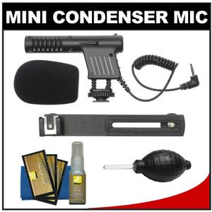 Vidpro Mini Condenser Microphone for DSLRs Camcorders and Video Cameras with Nikon Cleaning and Accessory Kit