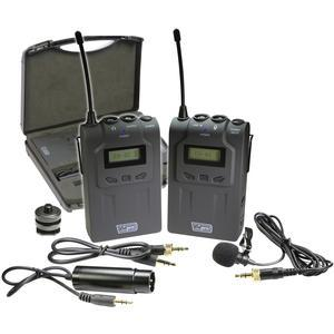 Vidpro XM-W4 Professional UHF Wireless Microphone System with Lavalier and Case