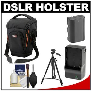 Review Vidpro TL-35 Top-Load DSLR Camera Holster Case (Large) with LP-E6 Battery & Charger + Tripod + Cleaning Kit Before Special Offer Ends