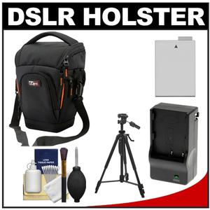 Get Vidpro TL-35 Top-Load DSLR Camera Holster Case (Large) with LP-E8 Battery & Charger + Tripod + Cleaning Kit Before Too Late