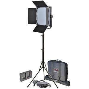 Vidpro LED-1X1 Studio Video Lighting Kit with LED Light Stand Cases and Soft Diffuser includes AC Adapter and Power Supply