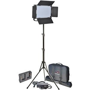 Vidpro LED-604 Studio Video Lighting Kit with LED Light Stand Cases and Soft Diffuser includes AC Adapter and Power Supply