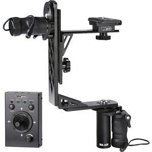 Vidpro MH-430 Professional Motorized Pan and Tilt Gimbal Head Includes. Heavy-Duty Gimbal Head 2 Geared Motors Joystick Control Cables and Case