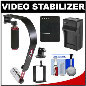 Vidpro SB-8 Video Stabilizer for GoPro with Battery and Charger and Kit for GoPro Hero 3 Action Camera