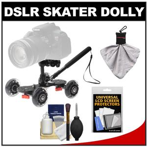 Vidpro SK-22 Professional Skater Dolly for Digital SLR Cameras and Video Camcorders with Accessory Kit